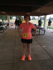 Before I ditched the bib